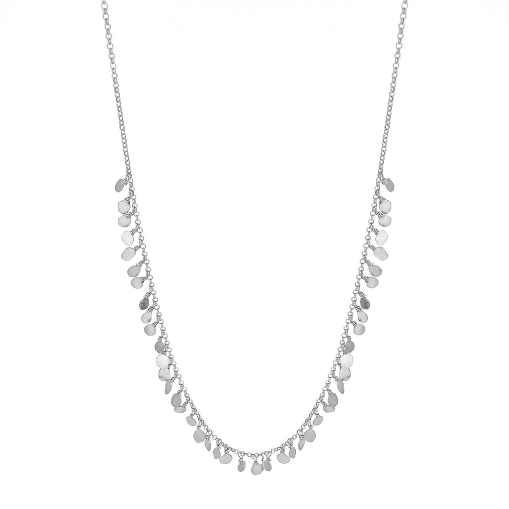 Tiny Sequin Necklace - Silver