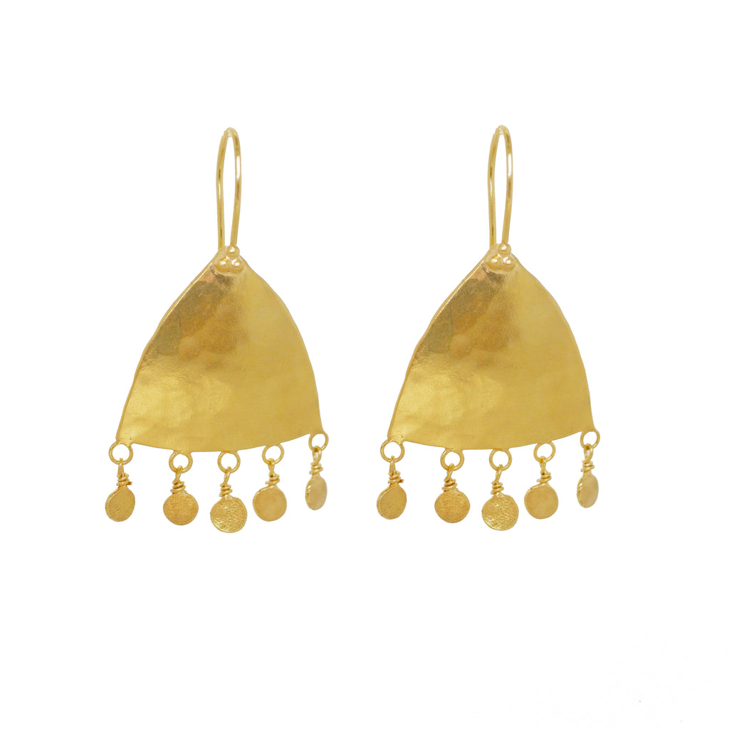 Moroc Drop Earrings - Gold