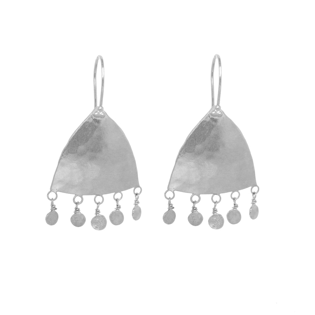 Moroc Drop Earrings - Silver
