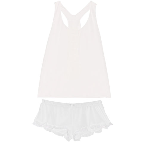 Coco Silk Babydoll And Ruffle Bottom