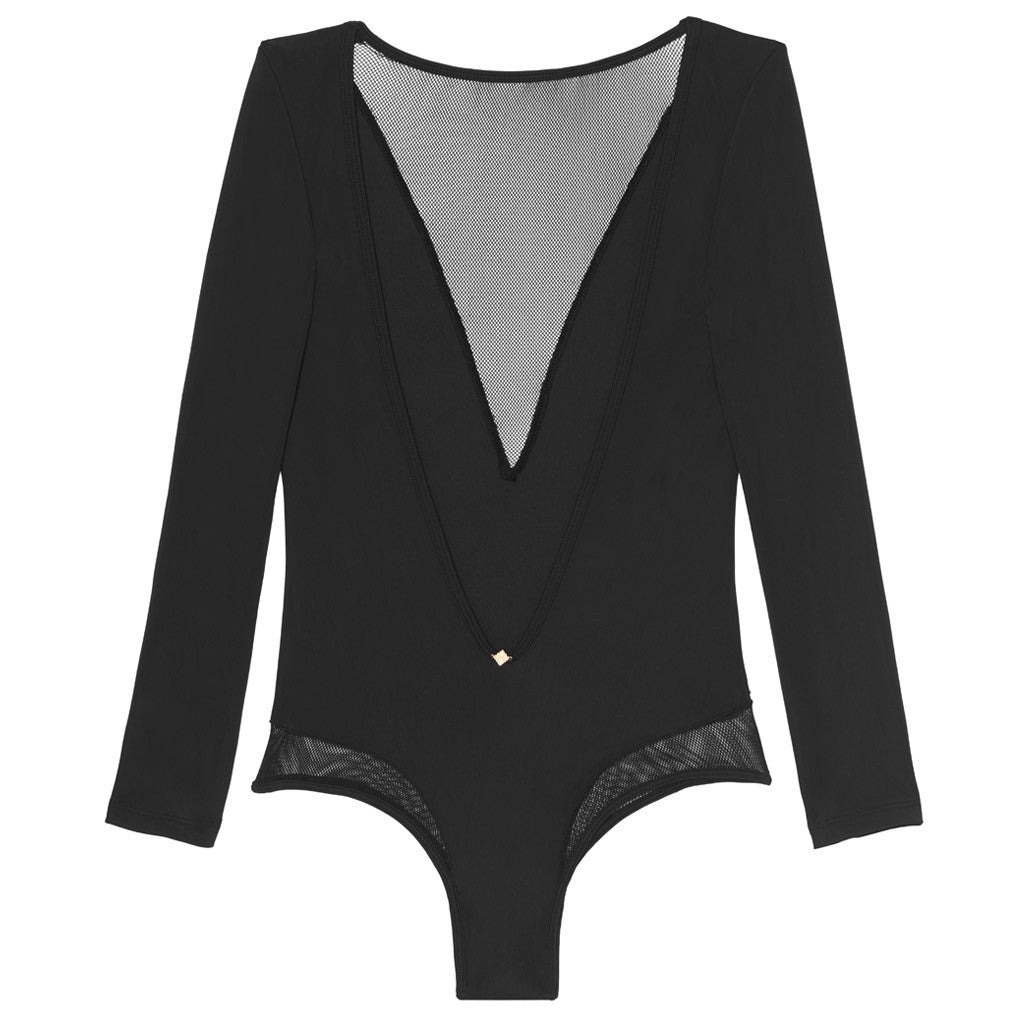 Roxie Long Sleeve Mesh Bodysuit