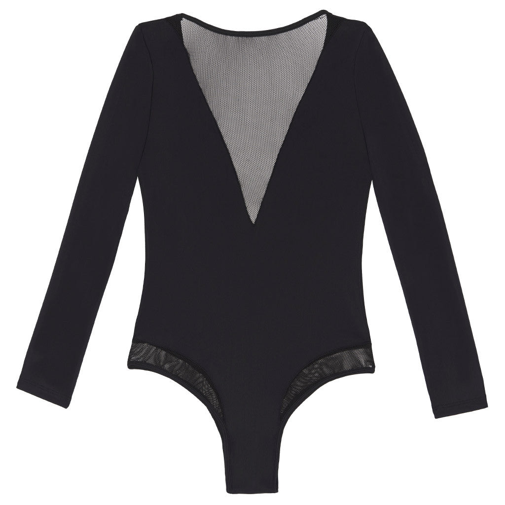 Sueded Roxie Long Sleeve Bodysuit