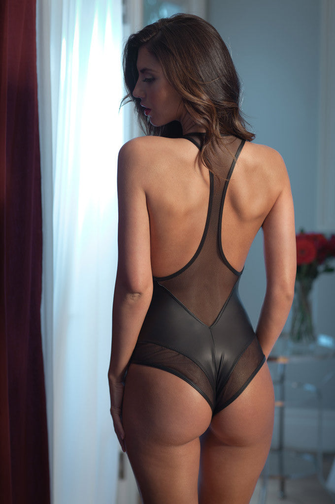 Valerie Vegan Leather Bodysuit
