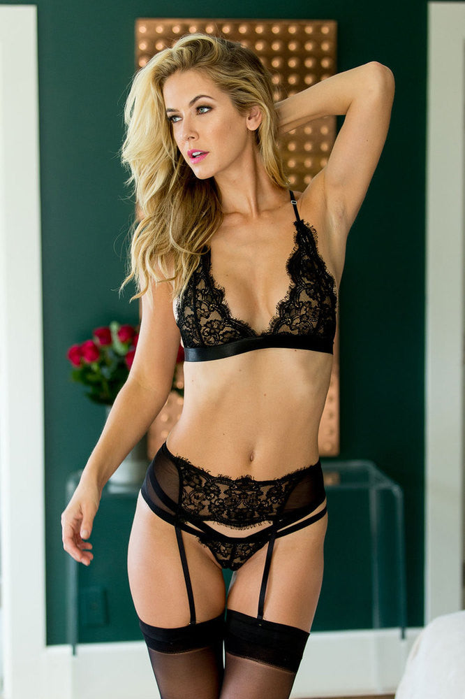 VIVI LACE GARTER BELT