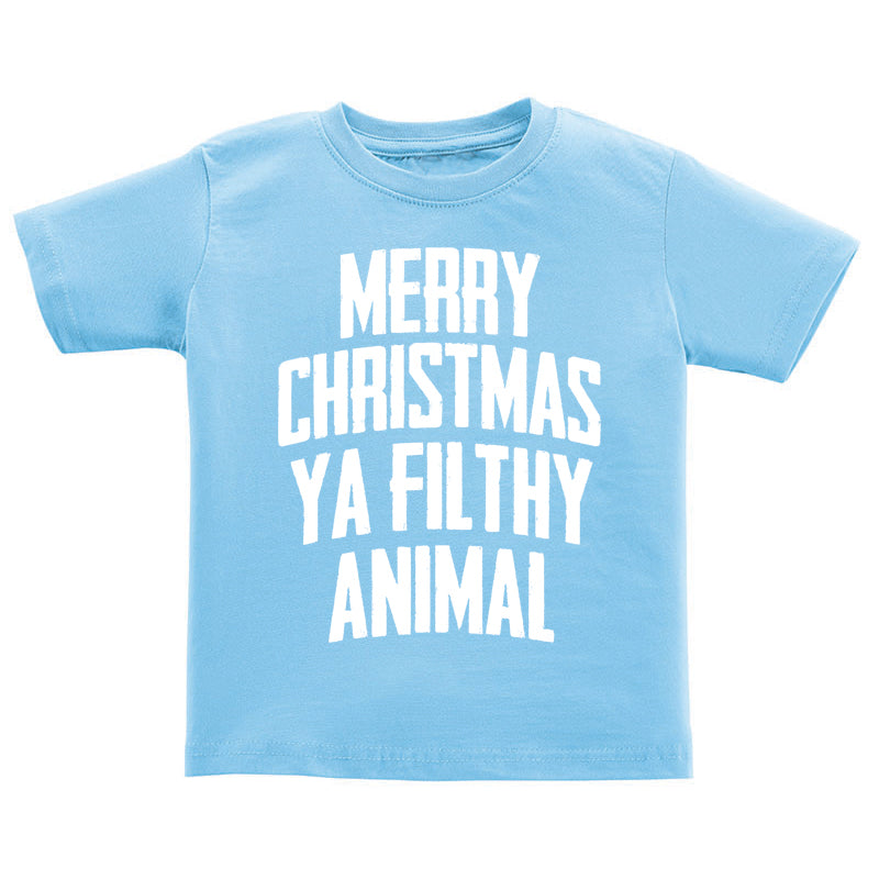 T-Shirt - Merry Christmas Ya Filthy Animal