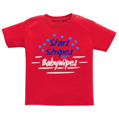 T-Shirt - Stars, Stripes, & Baby Wipes
