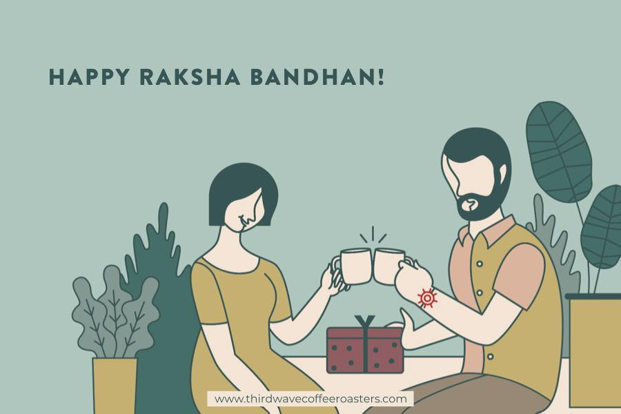 Raksha Bandhan Postcard - Third Wave Coffee Roasters 100% Arabica Coffee