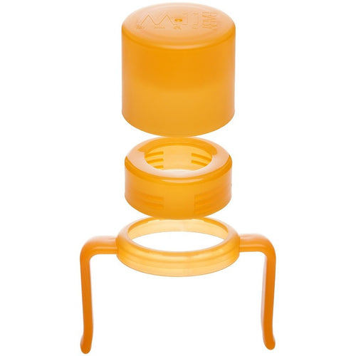 Mii Baby™ Bottle Cap/Ring and Handle Set in Orange