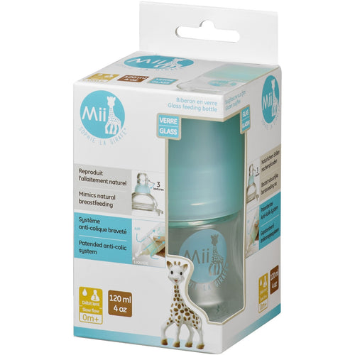 Mii Sophie la Girafe® Glass Baby Bottles 4 oz / 120ml
