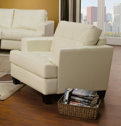 Toronto Tufted Bonded Leather Chair