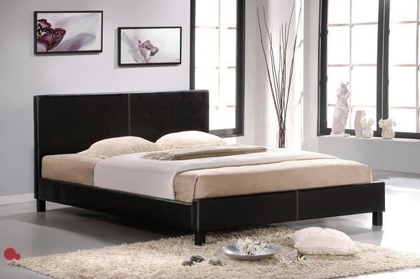 Mirabel Espresso Faux Leather Full (Double) Platform Bed by True Contemporary