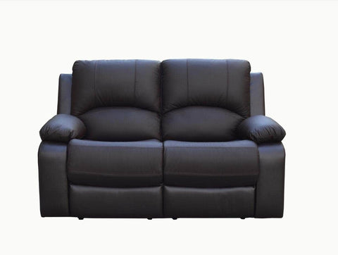 Levoluxe Loveseat Chocolate William Reclining Loveseat in Leather Match - Available in 2 Colours