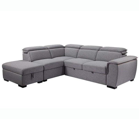 Urban Cali Sleeper Sectional Left Facing Chaise Gerardo Sleeper Sectional Sofa Bed with Storage Ottoman