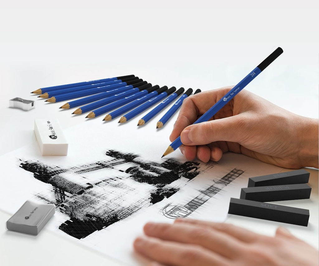 26 Piece Drawing and Sketching Pencil Art Set