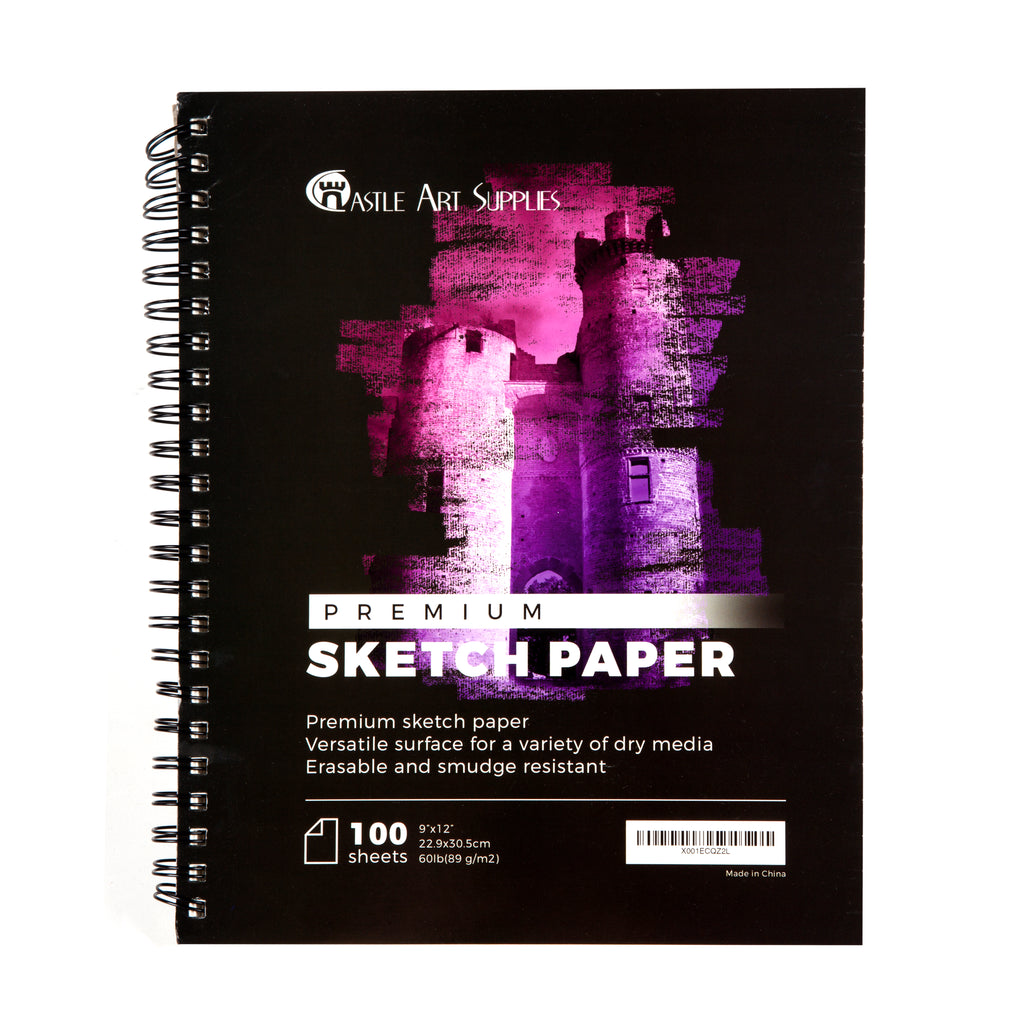 Sketchbooks 2 Pack - 9in x 12in - 200 Sheets of Sketch Paper Ideal for Drawing and School Supplies