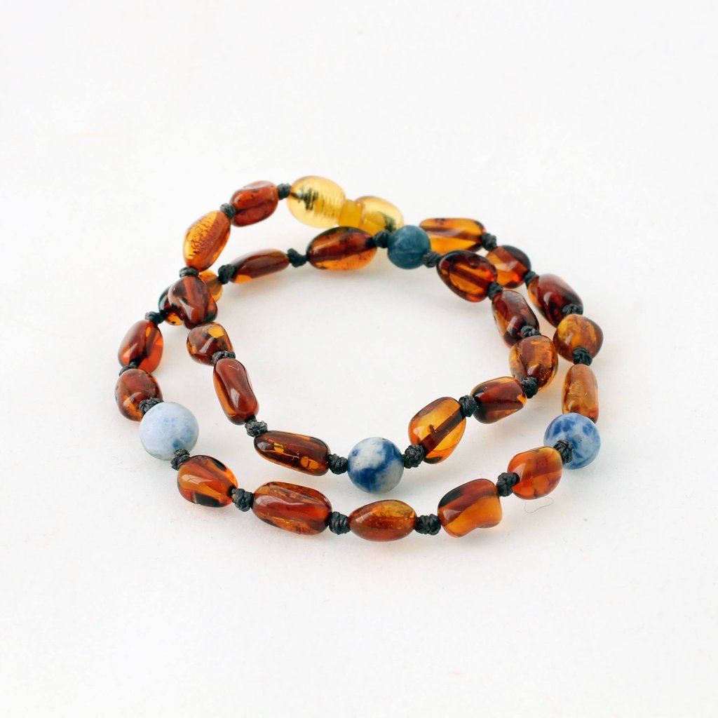Blue Amber Teething Necklace