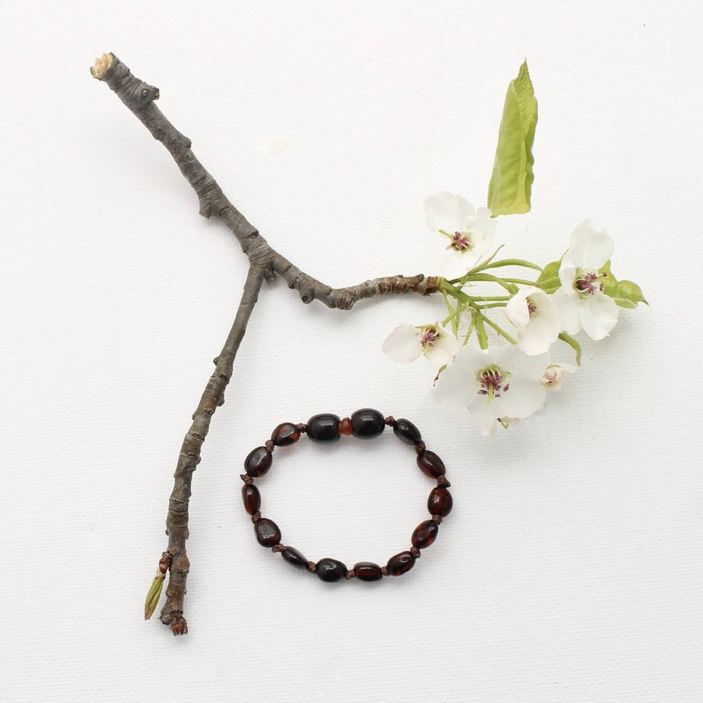 Cherry Amber Teething Bracelet