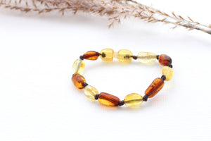 Lemon and Cognac Baltic Amber Bracelet