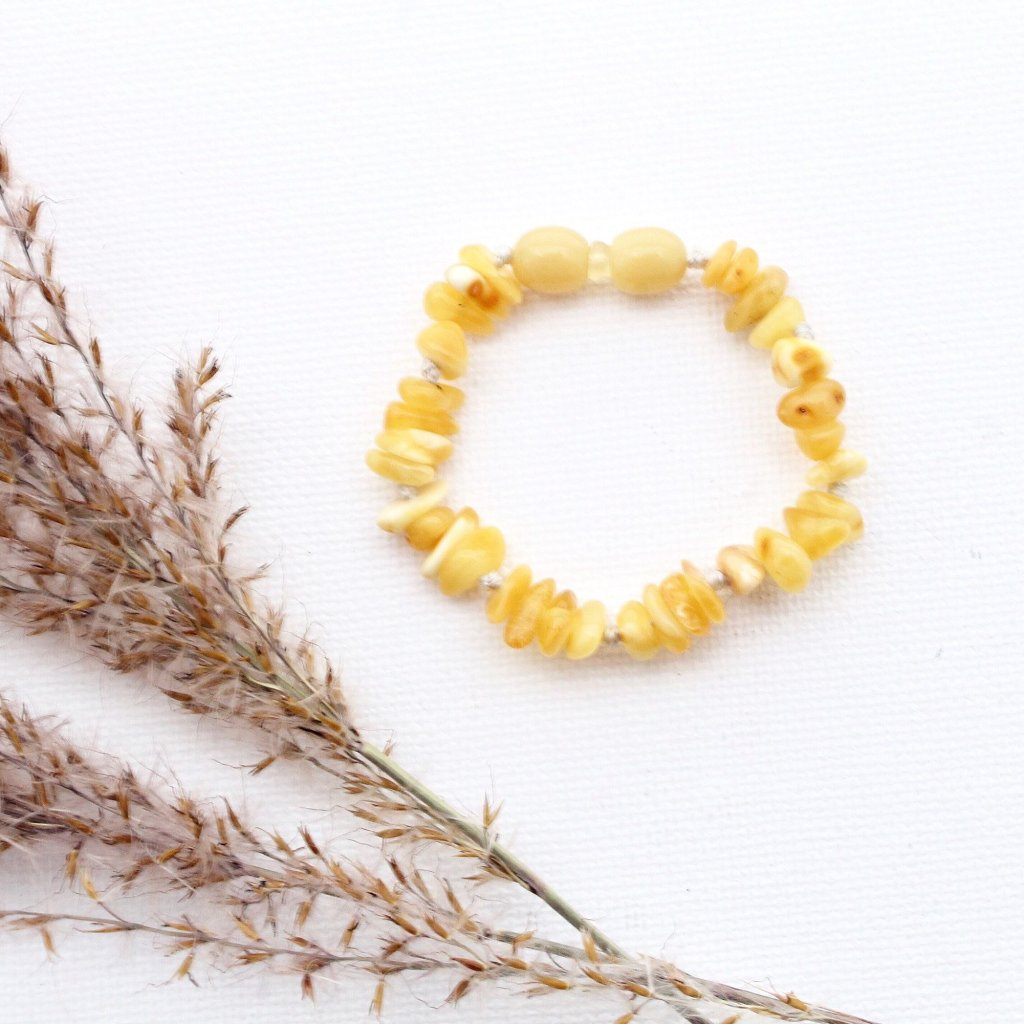 Butter Baltic Amber Teething Bracelet