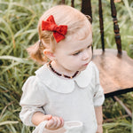 Baltic Amber Teething Necklace | Frosted Red Cherry Amber + Mookite