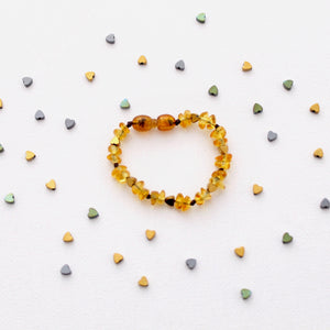 Honey Amber Bracelet | Sweetheart Collection | 3 Heart Colors Available