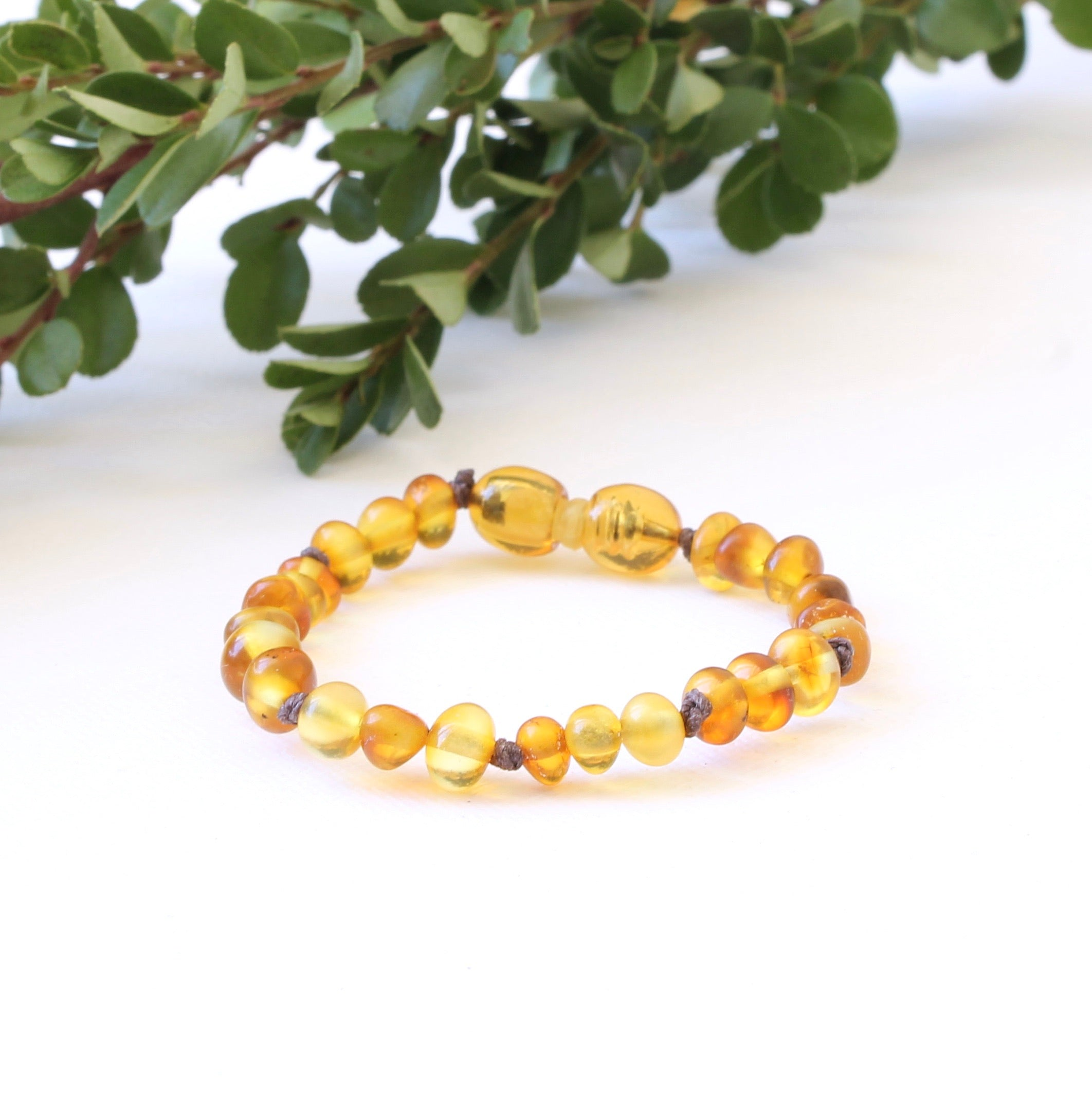 Frosted Honey Amber Bracelet