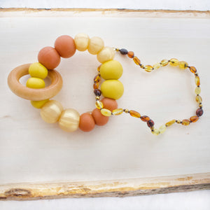 Sunrise Teether + Wood Ring