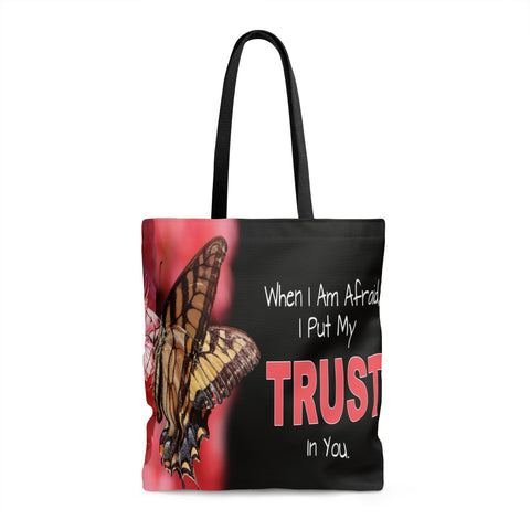 When I Am Afraid I Put My Trust In You - Printed Tote Bag