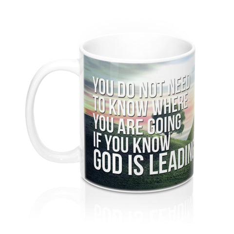 God is Leading - Christian Coffee Cup / Mug 11oz