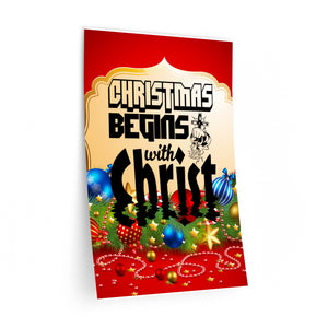 Christmas Begins With Christ Wall Decals