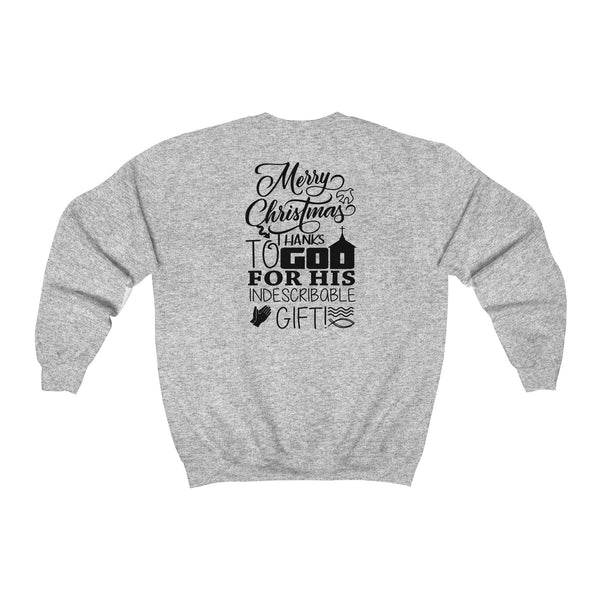 God's Gift at Christmas Heavy Blend™ Unisex Adult Crewneck Sweatshirt
