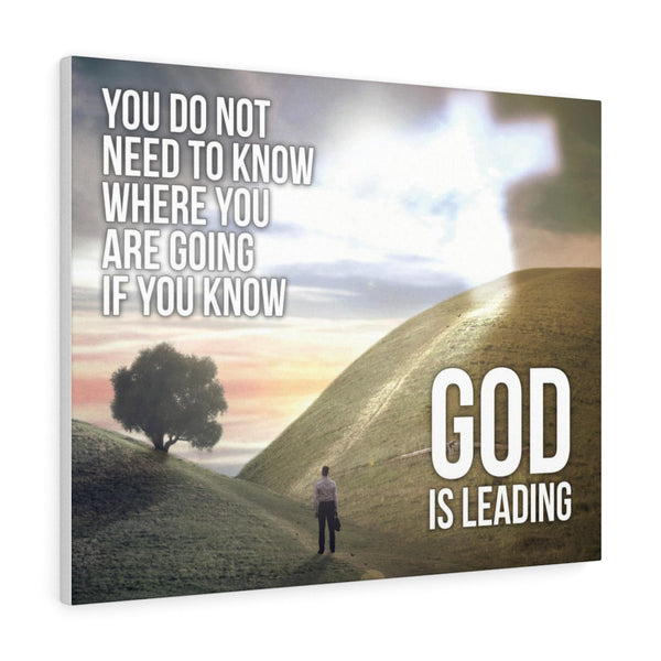 God Is Leading - Christian Gallery Wrap