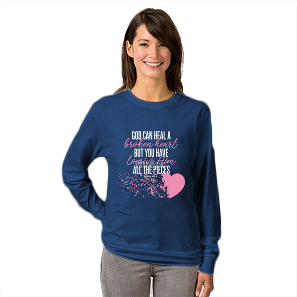 God Can Heal A Broken Heart Women's Sweatshirt