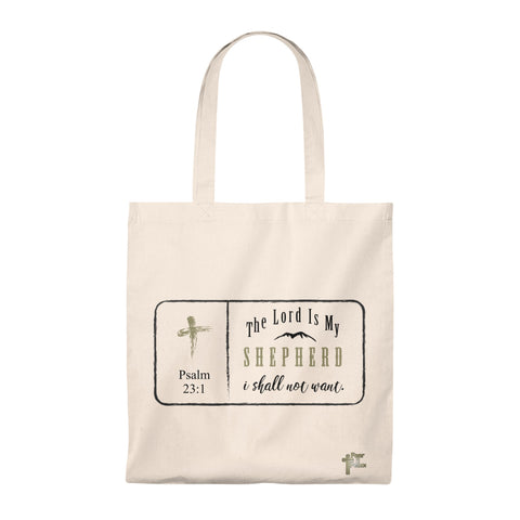 The Lord Is My Shepherd I Shall Not Want - Tote Bag