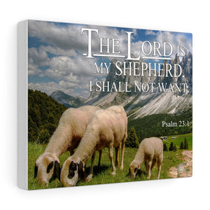 The Lord Is My Shepherd I Shall Not Want - Custom Canvas Gallery Wraps