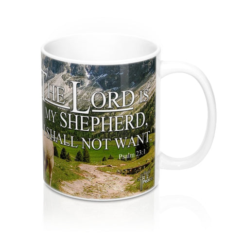 The Lord Is My Shepherd - Christian Coffee Cup / Mug 11oz