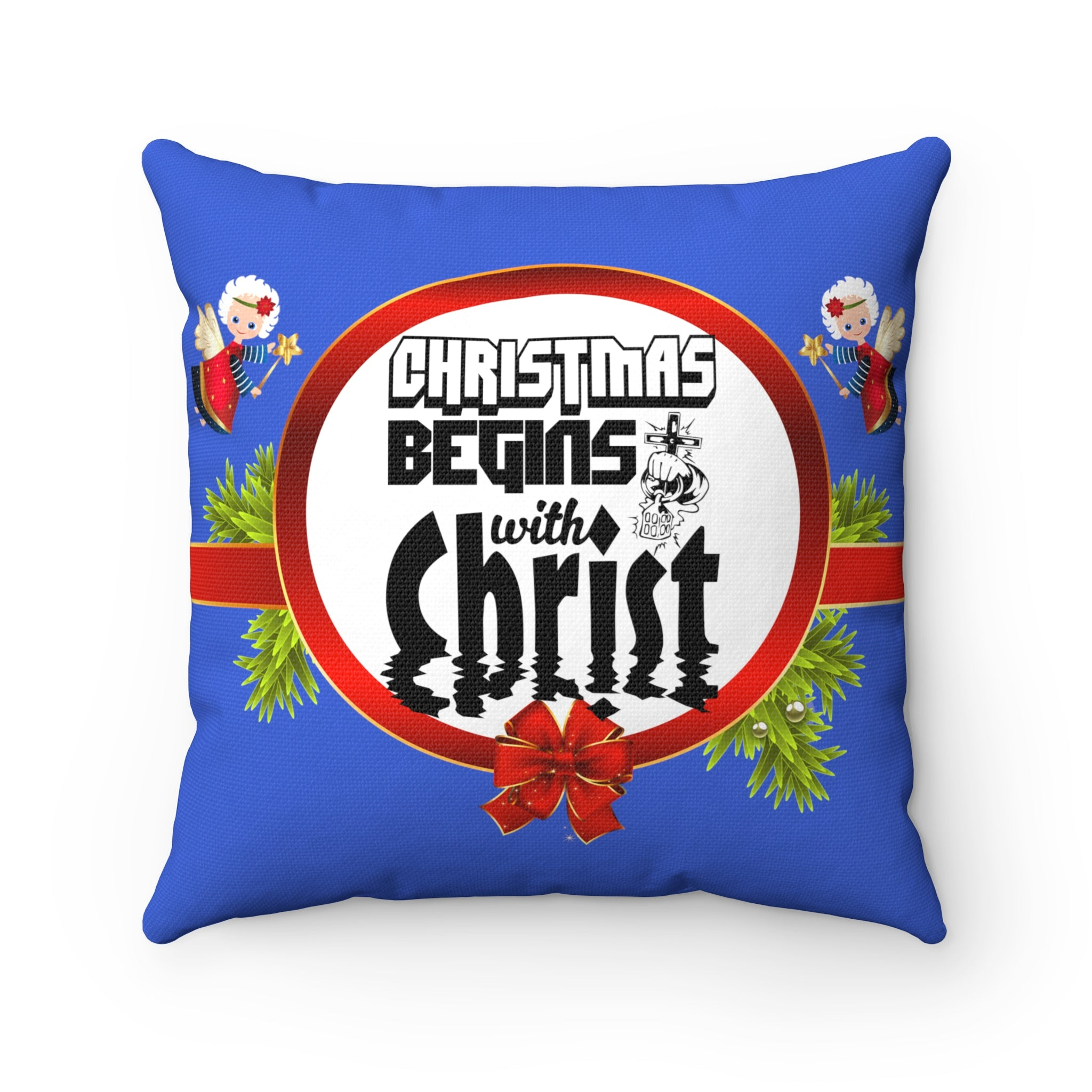 Christmas Begins With Christ Pillow