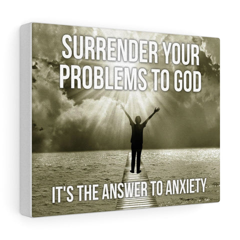 Surrender Your Problems To God - Christian Gallery Wrap