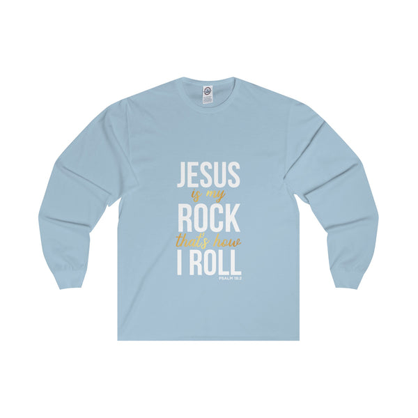 Jesus Is My Rock Women's Adult Long Sleeve Tee