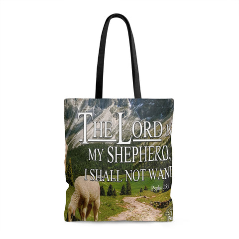 The Lord Is My Shepherd I Shall Not Want - Printed Tote Bag