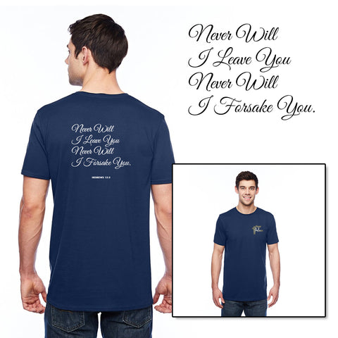Never Will I Leave You - Mens Round Neck T-Shirt