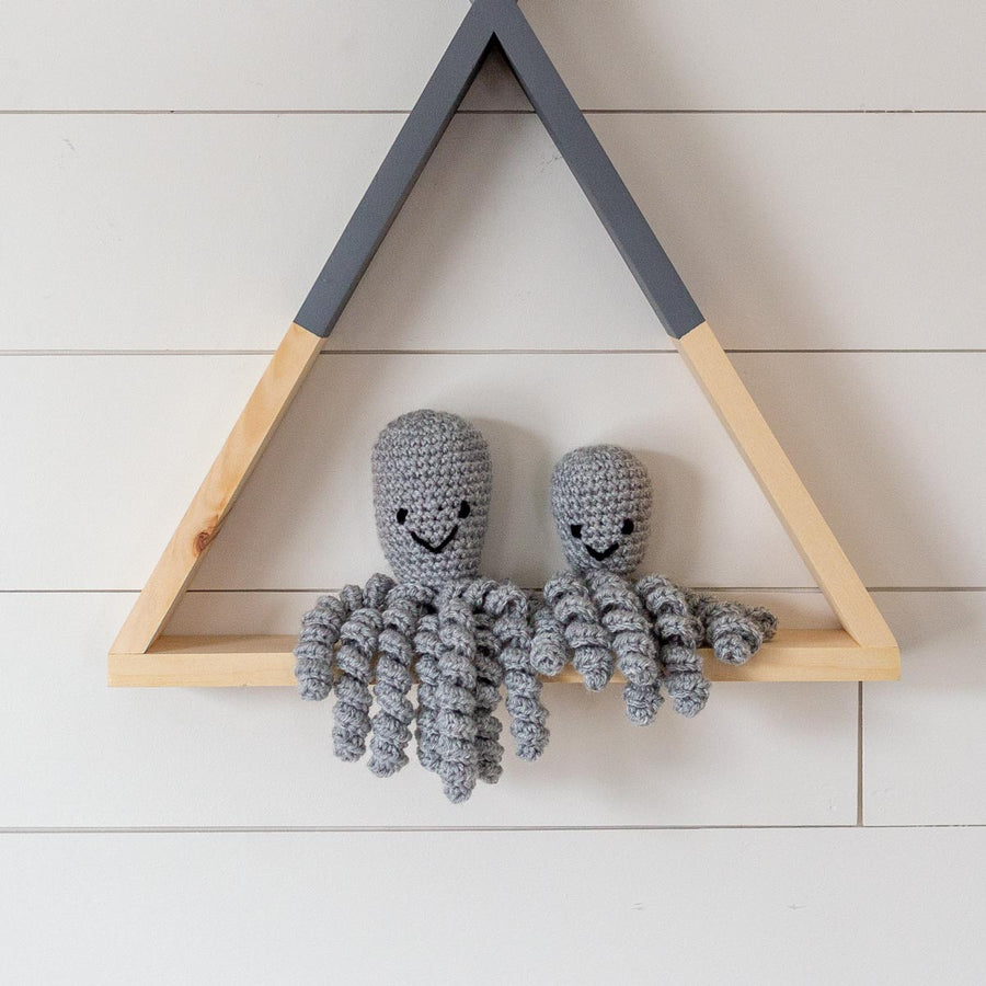 Baby Octopi Handmade Crochet Octopus Grey