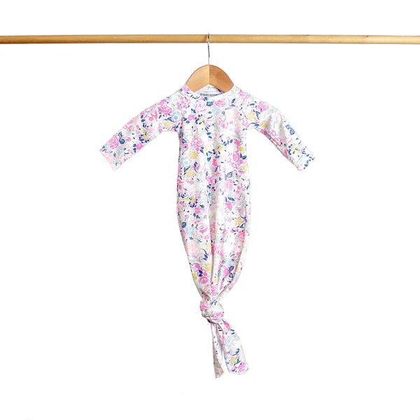 Baby Octopi Knotted Gown Floral