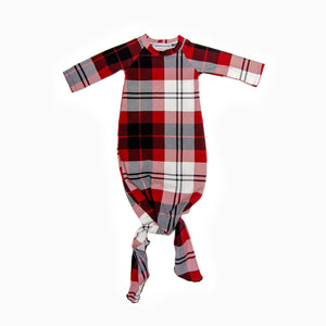 Baby Octopi Knotted Gown Plaid