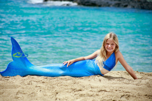 Catalina Aqua Sparkle Child Tail