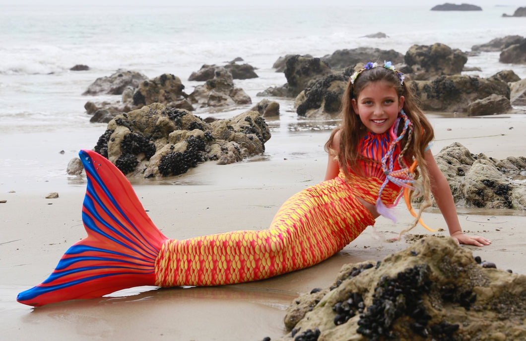 Sunset Coral Child Tail