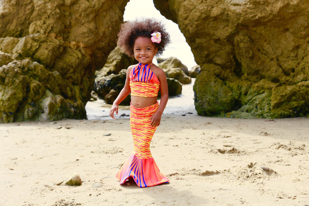 Sea Coral Sunrise Toddler Tail