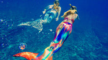 Liquid Moon mermaid tail fin to feet under water