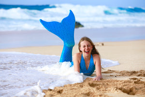 Adult True sea blue mermaid tail
