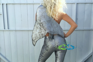 Liquid Moon leggings and mermaid tail